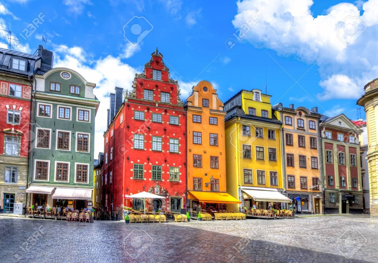 Stortorget square in Stockholm old town, Sweden - 148243132