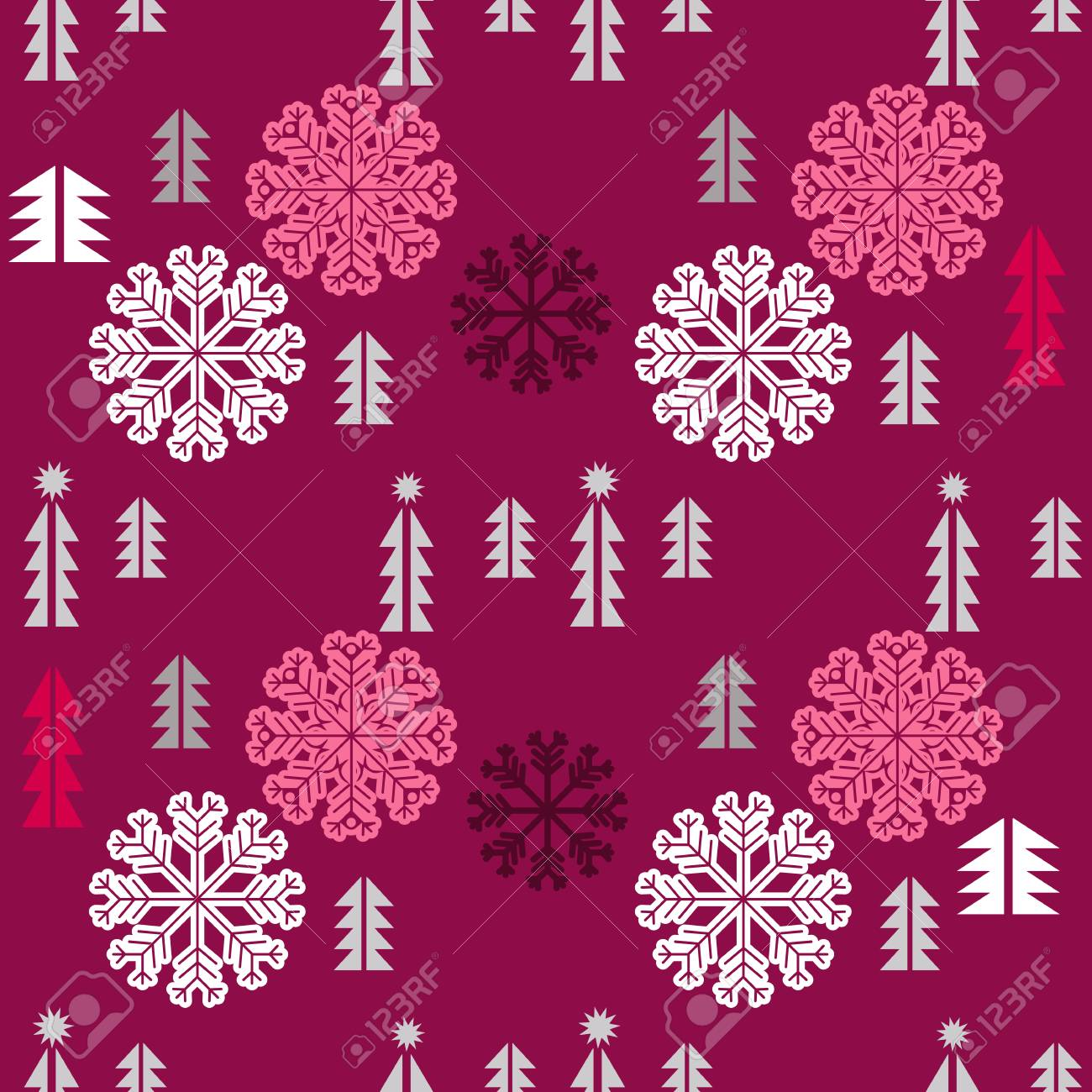 Christmas Seamless Pattern With Snowflakes Unique Christmas