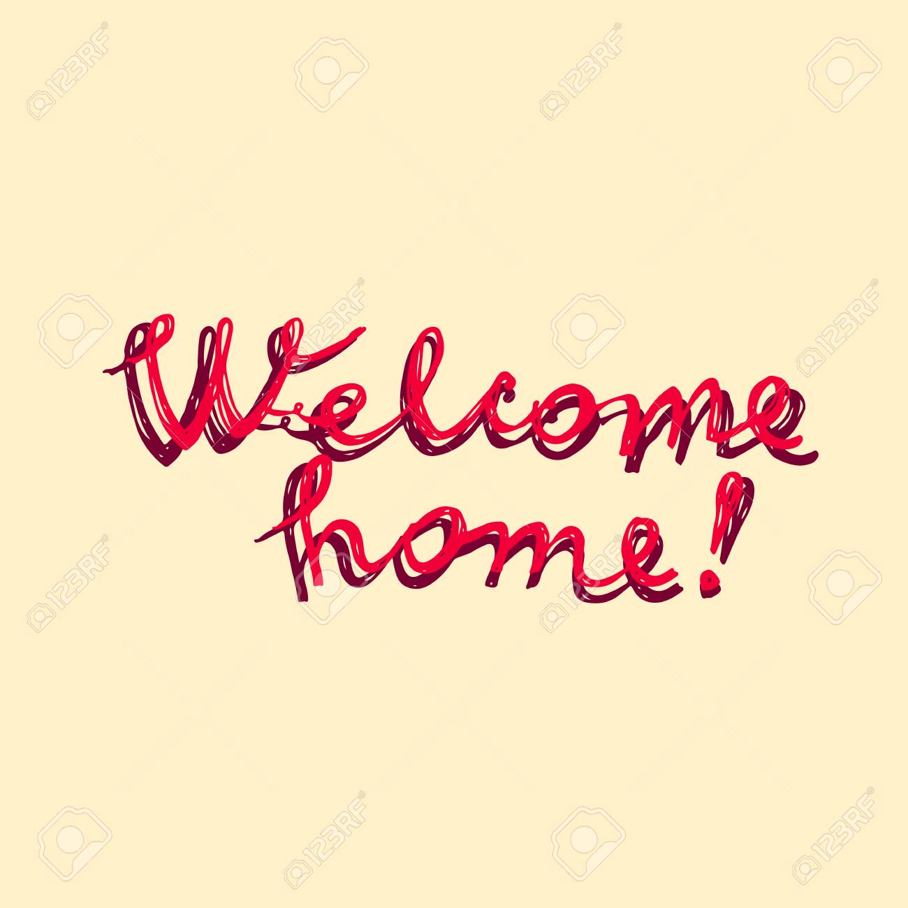 Welcome home greeting card in modern calligraphic illustration vector welcome home greeting card in modern calligraphic illustration m4hsunfo