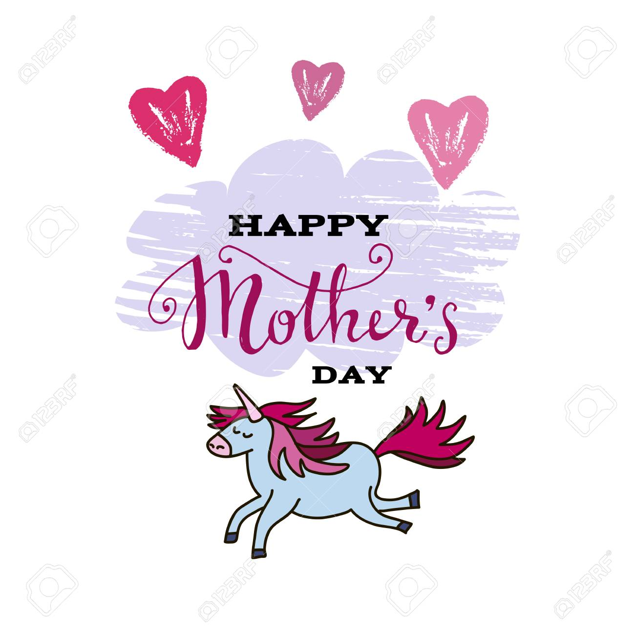 happy mother s day template poster greeting card with flowers