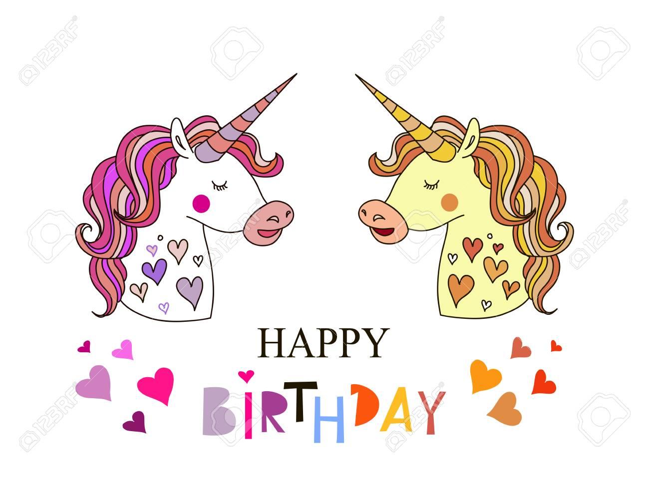 Happy Birthday Birthday Greeting Card Design Cute Hand Drawn