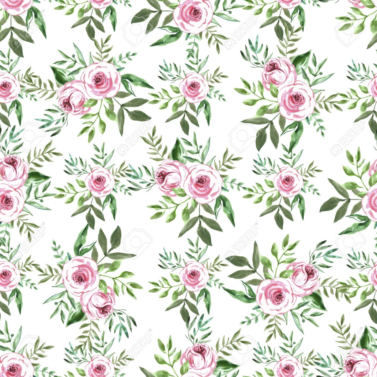 Decorative Seamless Pattern With Flowers Beautiful Floral