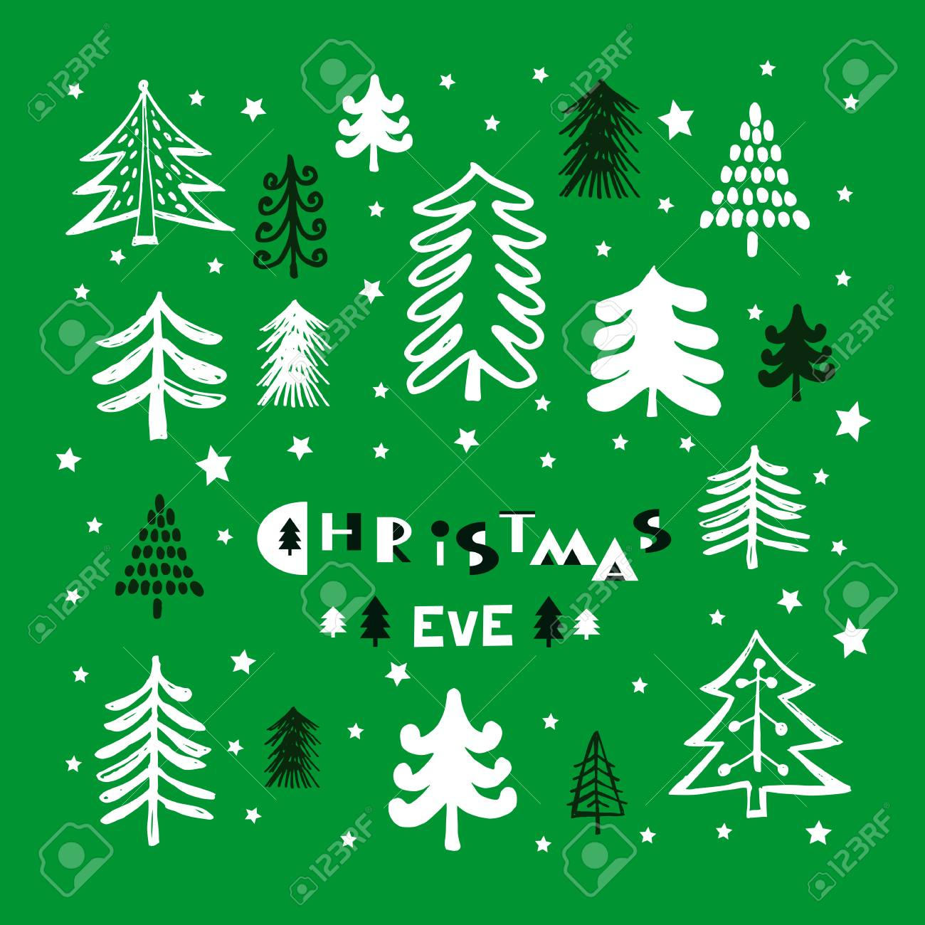 Christmas Eve Template Poster Greeting Card Invitation With