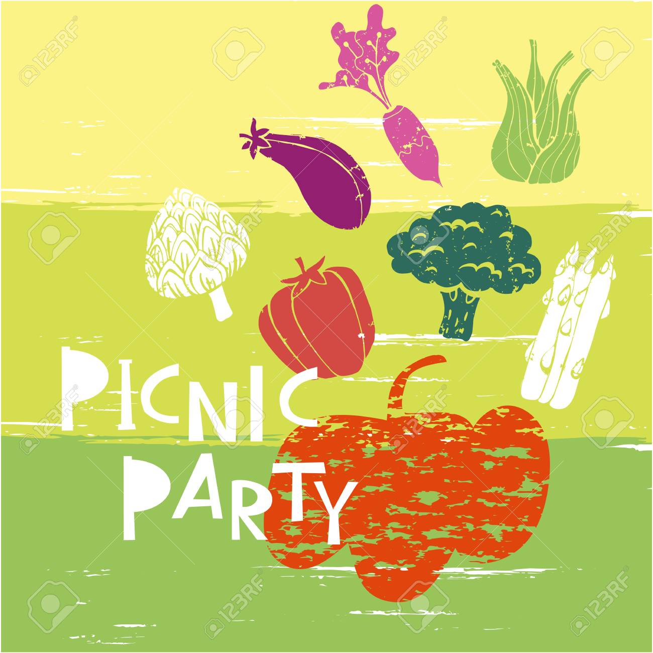 summer picnic party template poster party invitation card