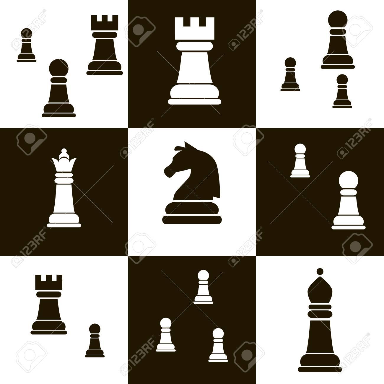international day of chess template seamless pattern background