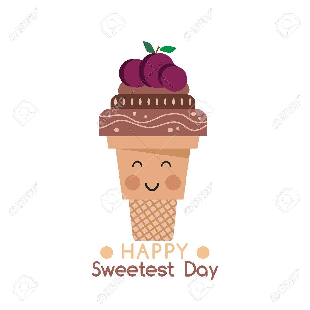 Happy Sweetest Day Template Poster Card Beautiful Chocolate