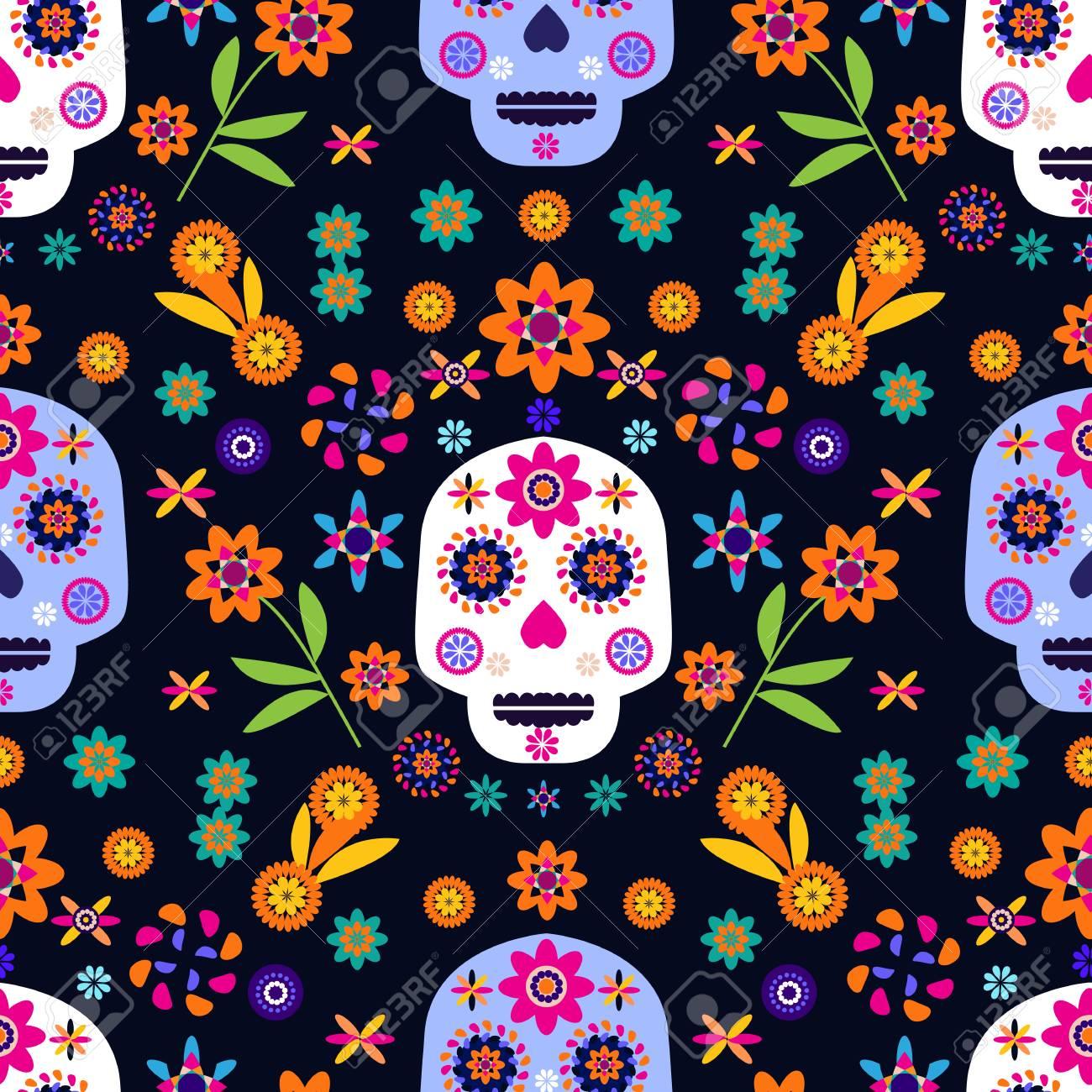 HOOSUNFlagrbfa Sugar Abstract Floral Mexican Sugar Skulls Day of The Dead Flowers Custom Folding Hanger Holder Table Hook for Purse Handbag Handbag Hanger Purse Hooks