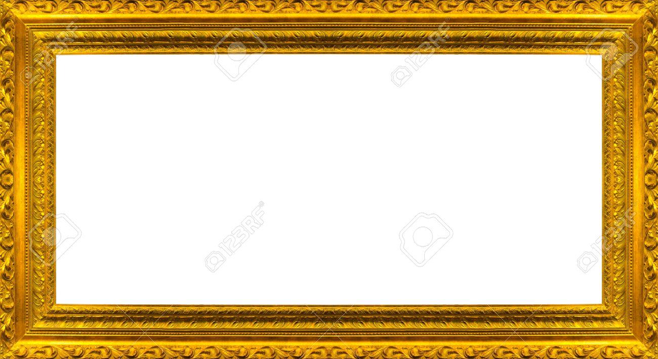 banque dimages trs grand taille grand cadre de tableau dor avec le chemin fond blanc de dtourage inclus
