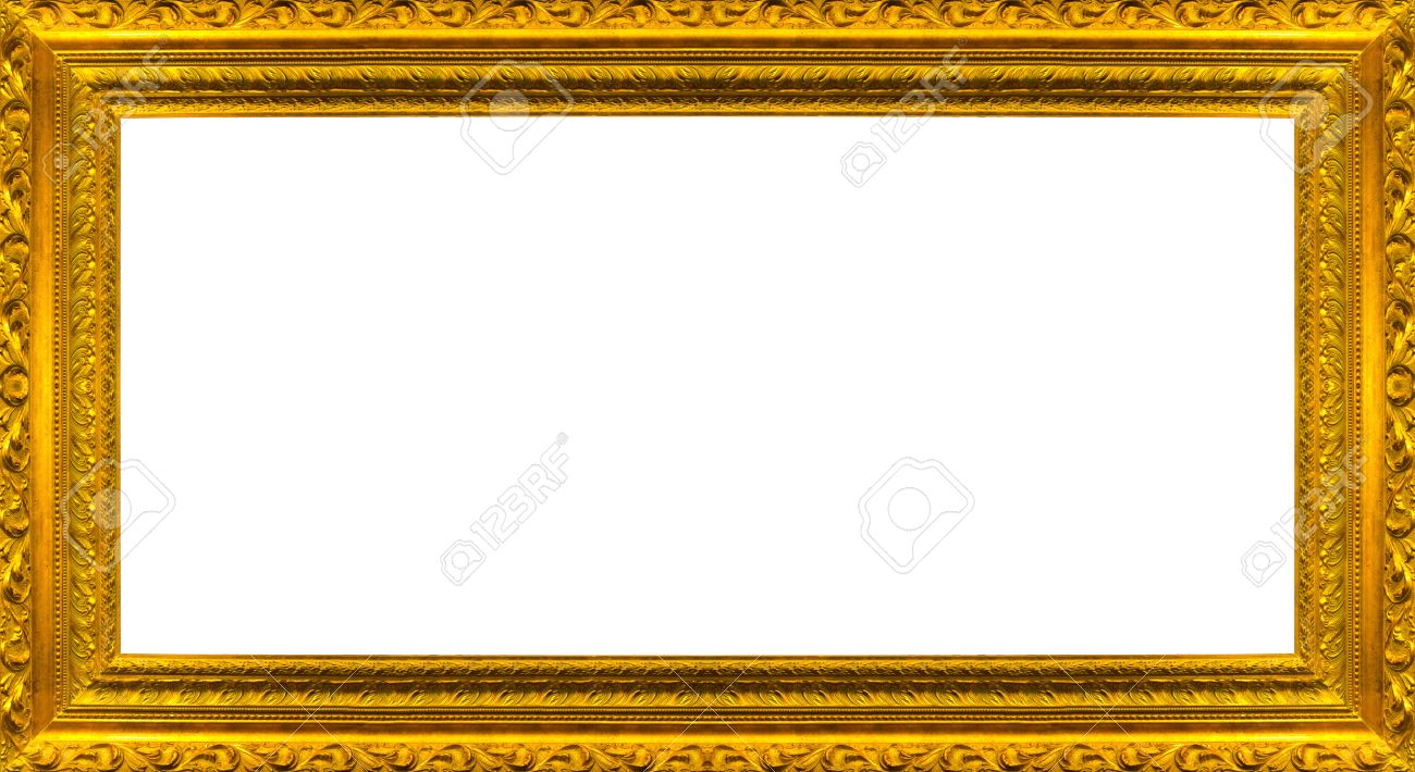 Very Big Size Large Golden Picture Frame With White Background ...