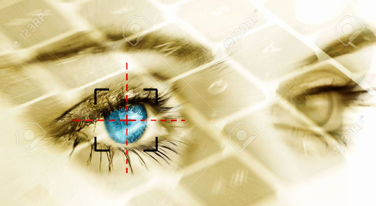 Eye system security identification. Stock Photo - 4870923