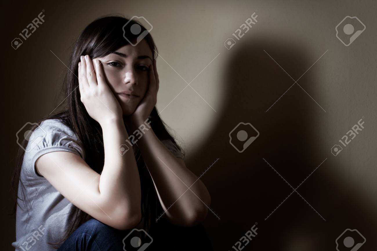 Closeup portrait of depressed teenager girl. Stock Photo - 8548748