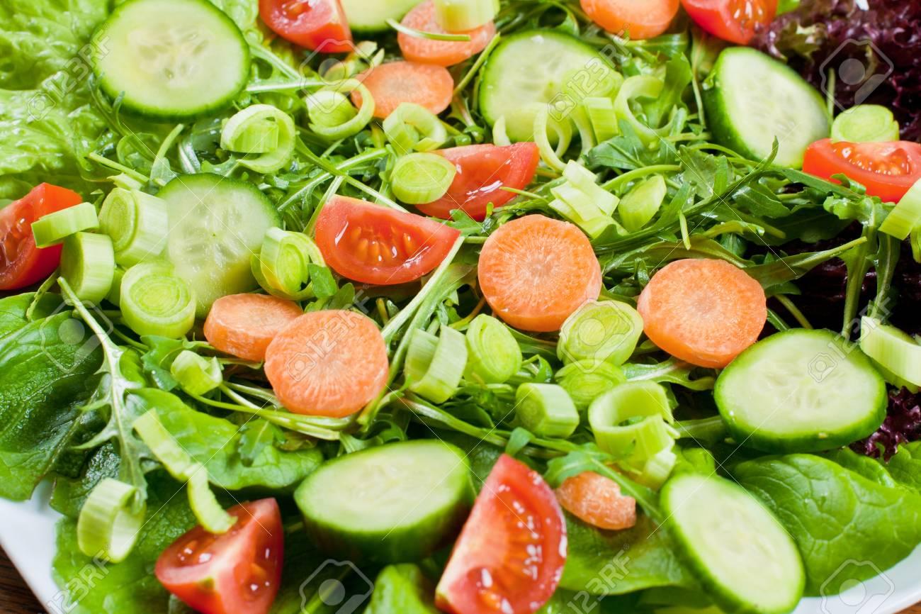Healthy fresh salad setting on table. Stock Photo - 8860843