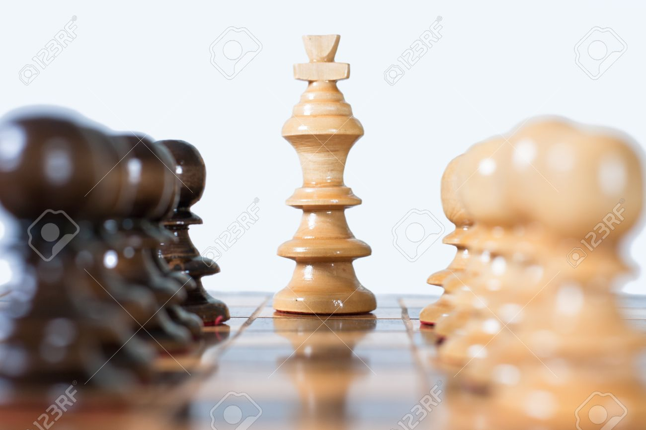 Chess game figure set on the board. Stock Photo - 9087046