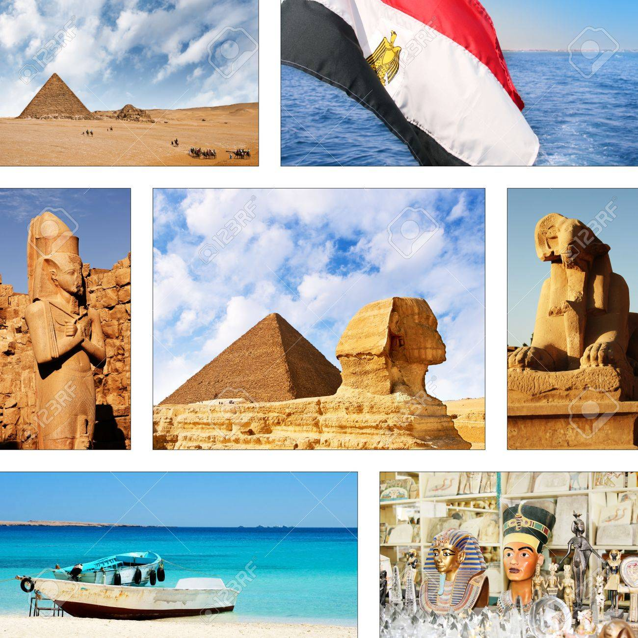 Collection Of Tourist Attractions Of Egypt Stock Photo Picture And Royalty Free Image Image 14100863