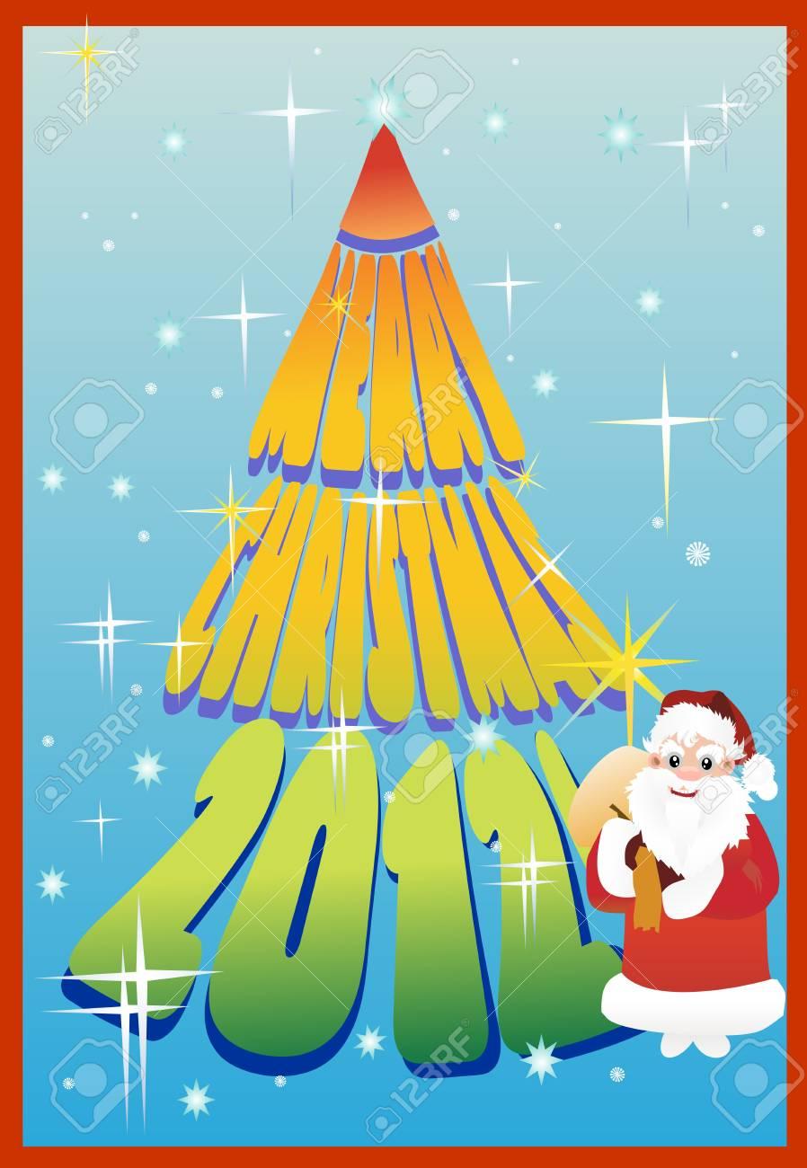 Vector Christmas Card 2012 Stock Vector - 13928895