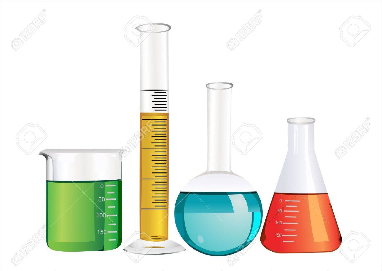 Laboratory glassware isolated over white background Stock Vector - 13928848