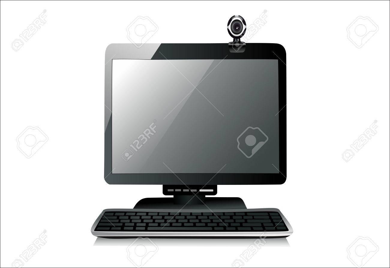 web camera on monitor Stock Vector - 13928843