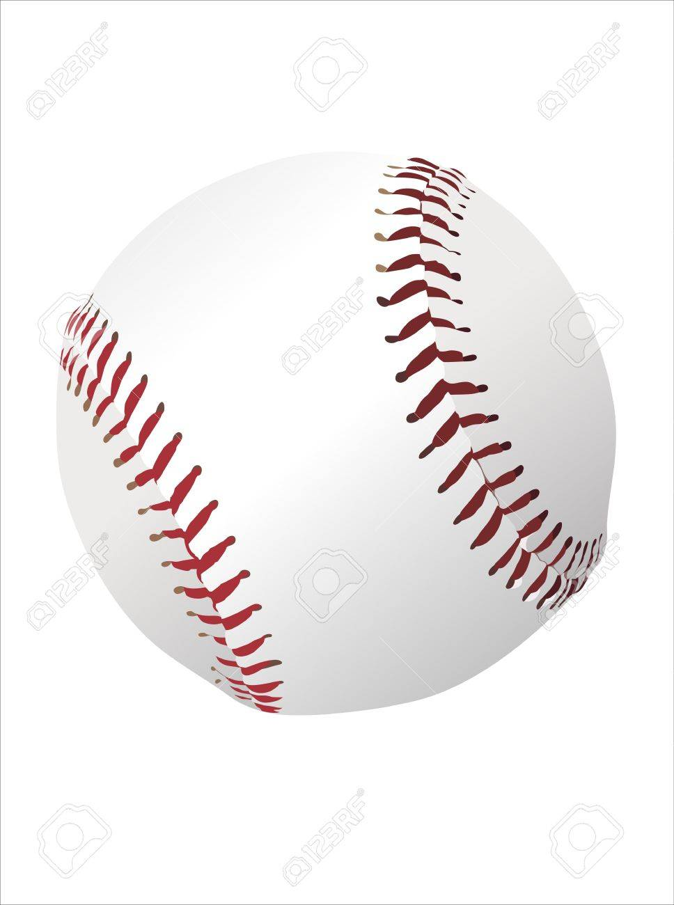 Baseball ball isolated on white background Stock Vector - 13928770