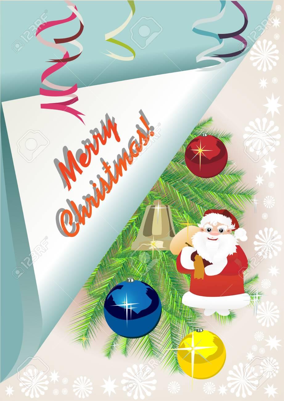 Merry Christmas card Stock Vector - 13928919