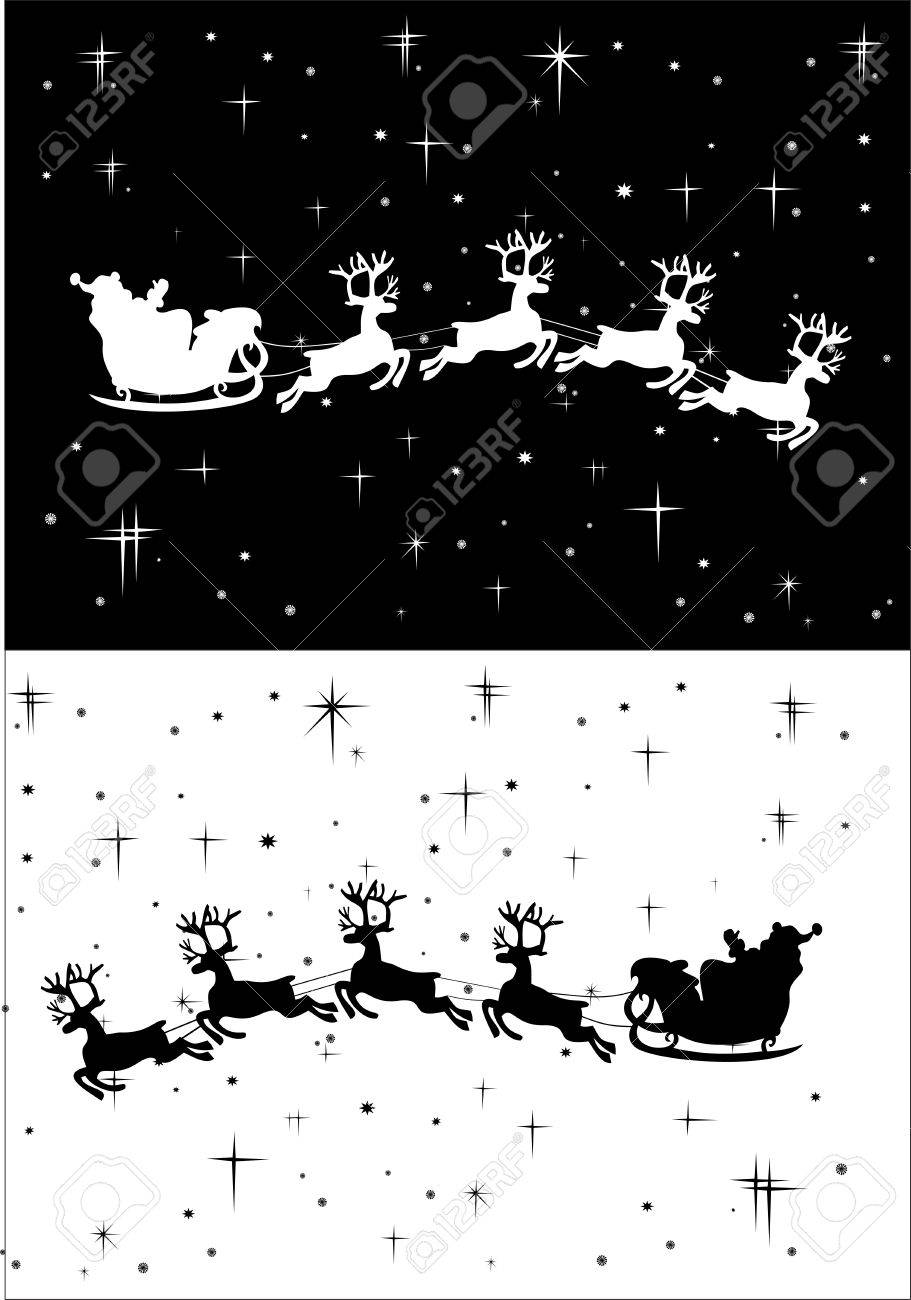 Santa Claus driving in a sledge Stock Vector - 13928902