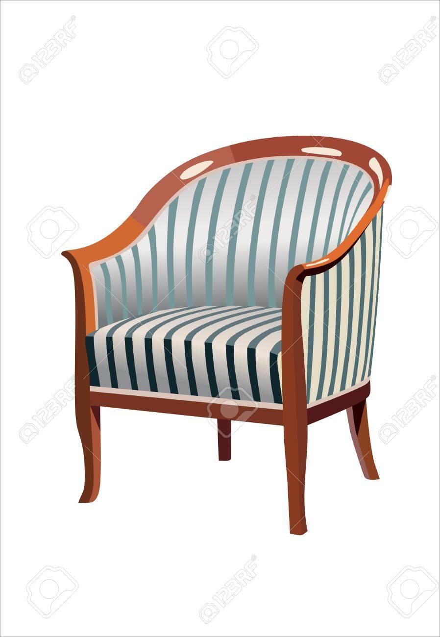 Antique Chair Stock Vector - 13928665