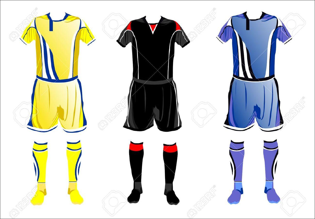 d518fd6d4f4 Resumen Uniformes De Fútbol Ilustraciones Vectoriales, Clip Art ...