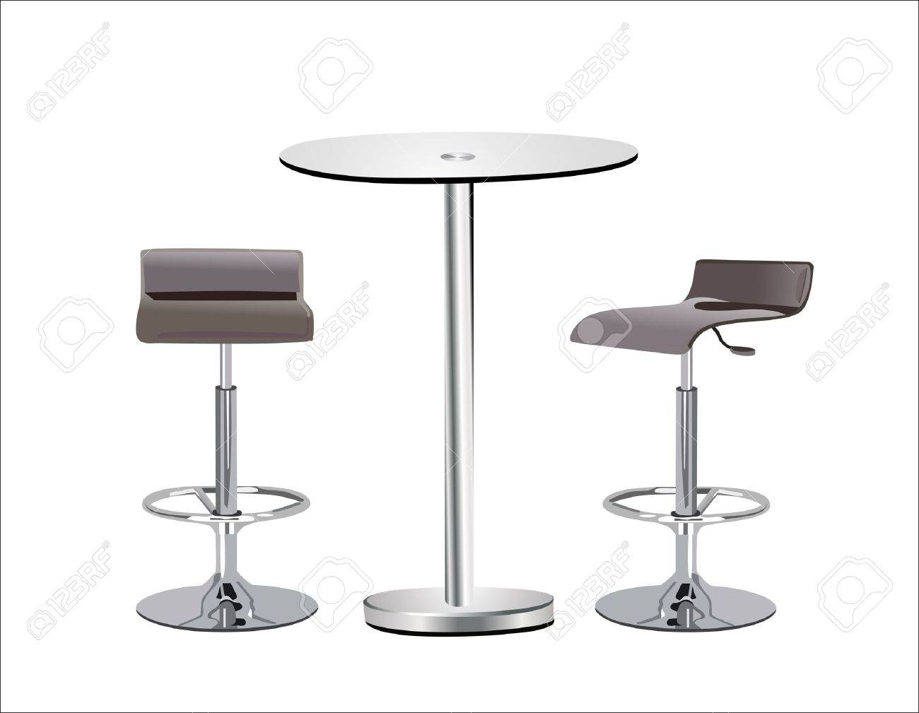 bar top tables with stools find this pin and more on bar stools  - high glass top table w chairs on white background stock vector