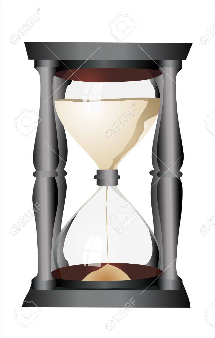 hourglass, sandglass, sand timer, sand clock isolated on the white background Stock Vector - 14286845