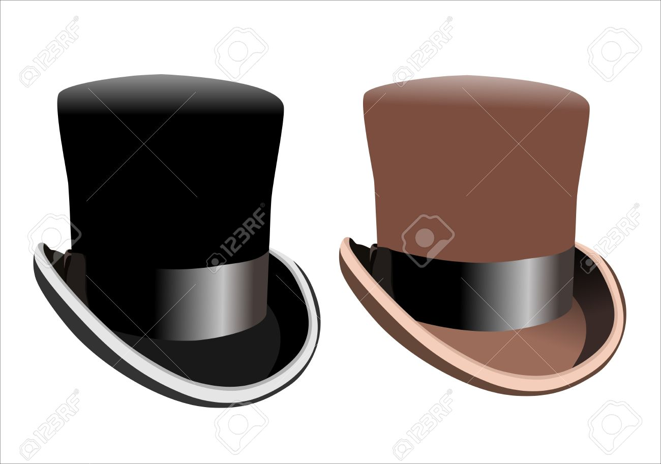 Black top hat isolated on white background Stock Vector - 14286675