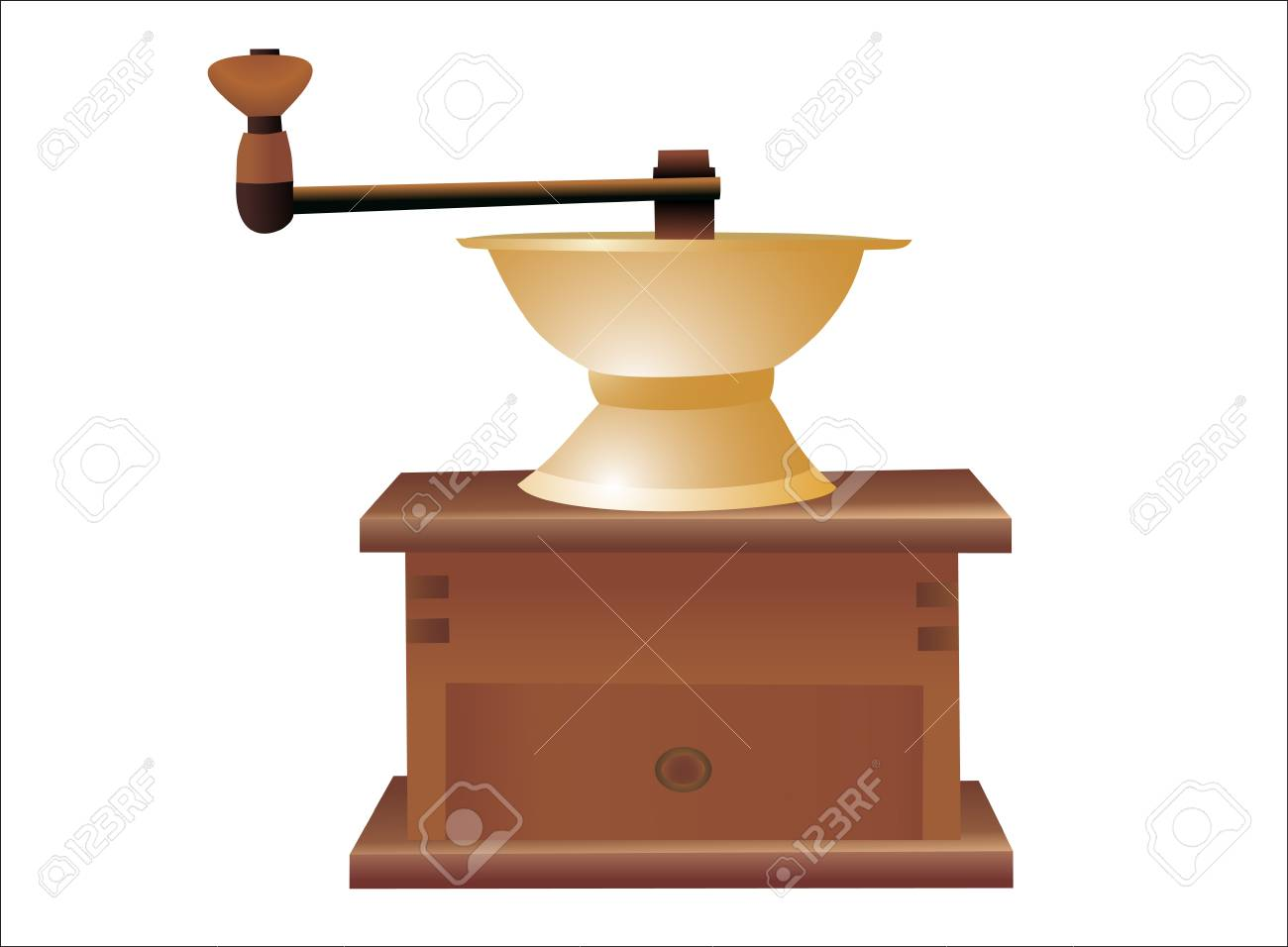 Vintage coffee mill isolated on white background Stock Vector - 14296728