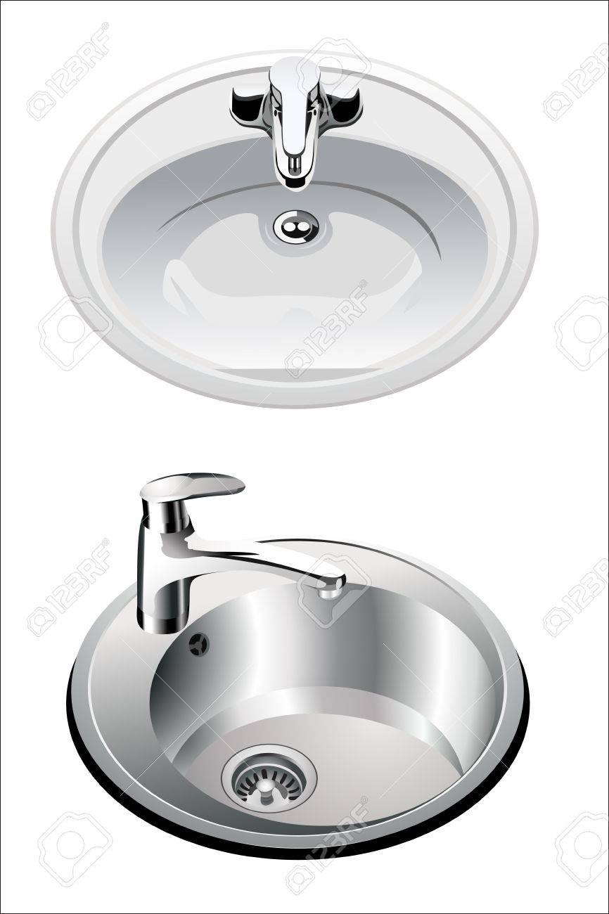 kitchen sink set Stock Vector - 14296843