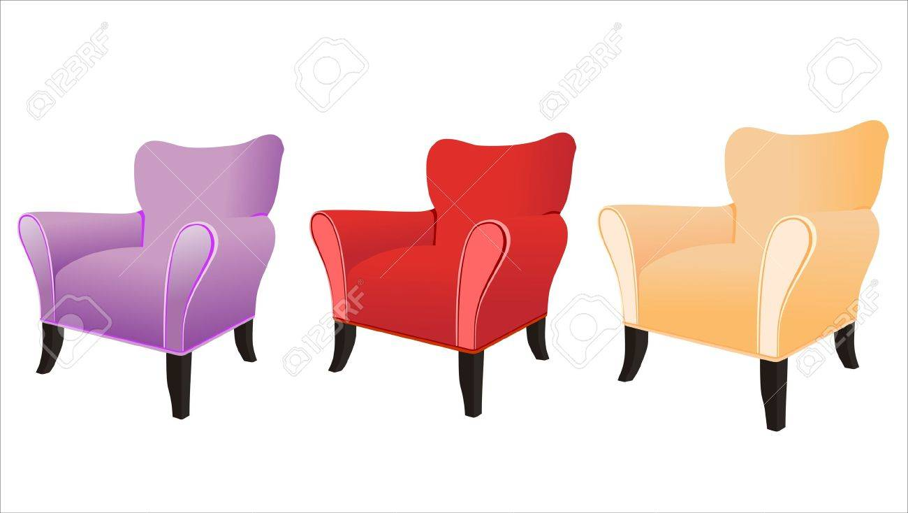 sofa isolated on white background Stock Vector - 14328049