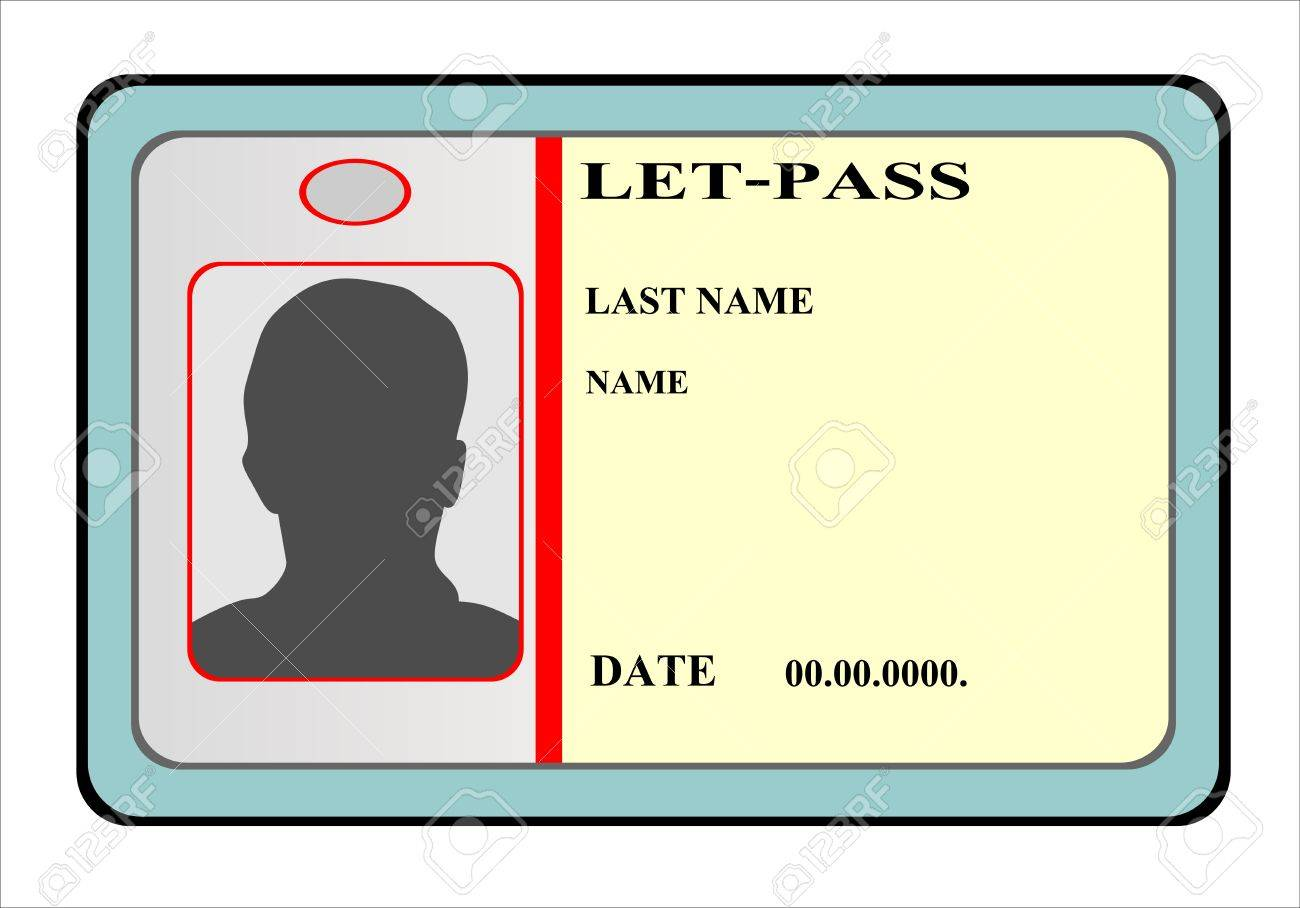 identification cards template royalty free cliparts vectors and