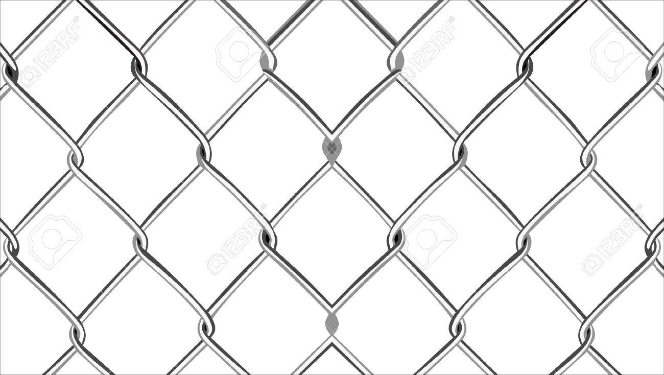 Wire mesh fence Stock Vector - 14630886