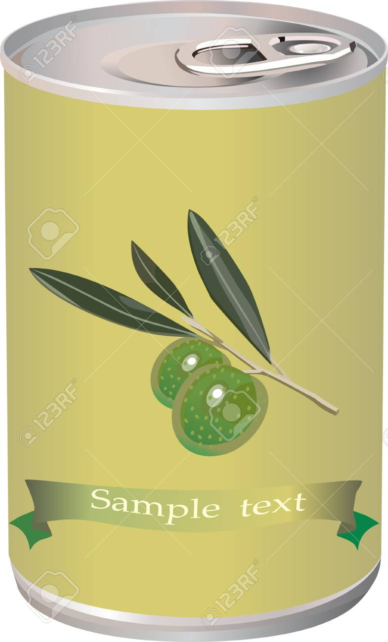 green olives, olive branch and bank of olives isolated on white photo-realistic Stock Vector - 15086338