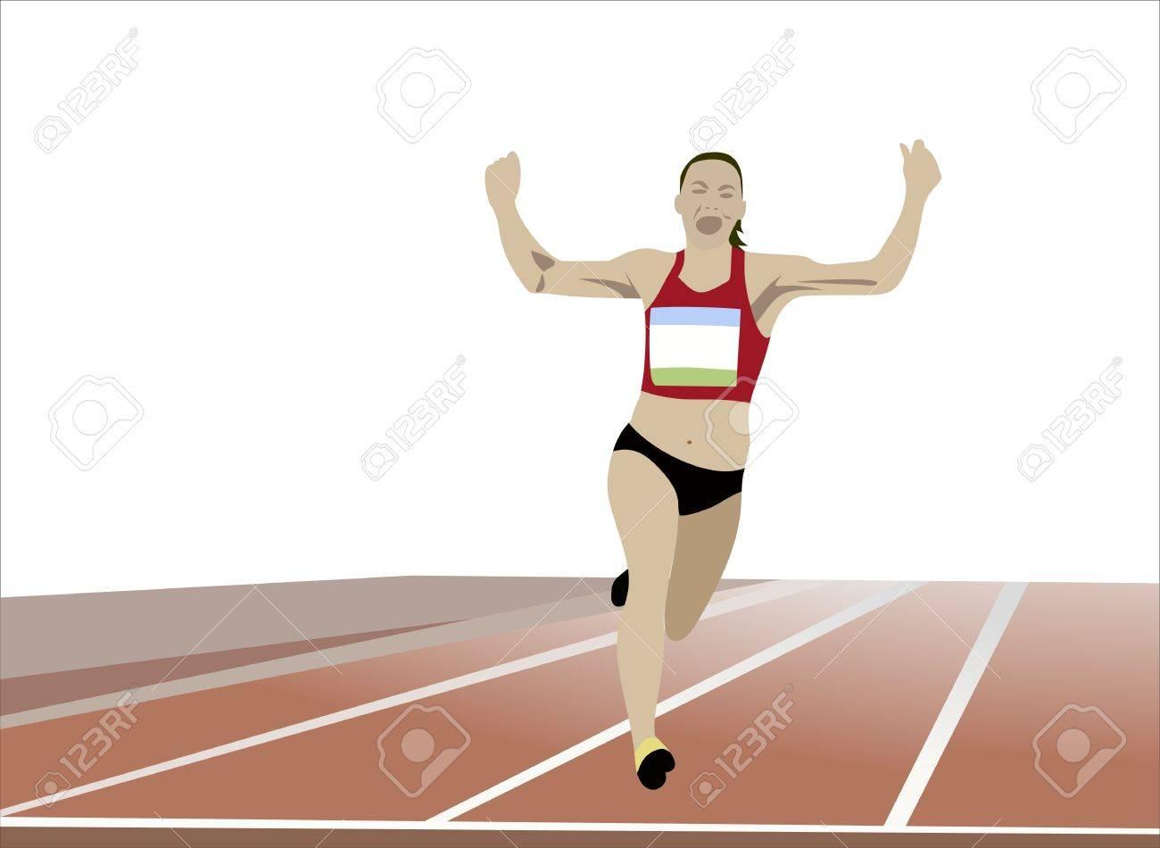 Runner Stock Vector - 15086154