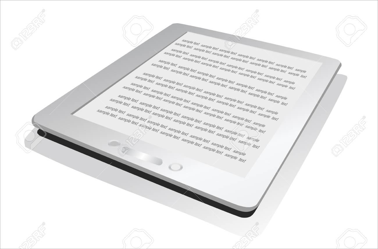Electronic book  e-book  reader  3d vector illustration Stock Vector - 15993204