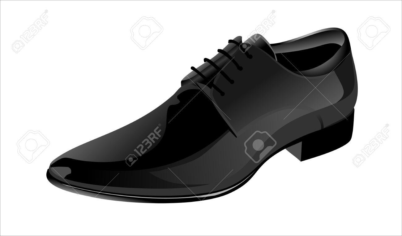 Elegant Shiny Black Dress Shoes Royalty