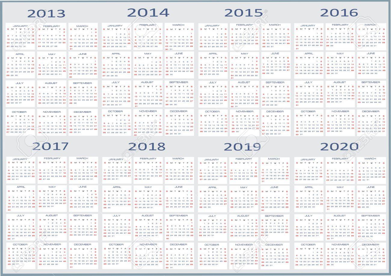 New Year 2013, 2014, 2015, 2016, 2017, 2018, 2019, 2020 Calendars ...