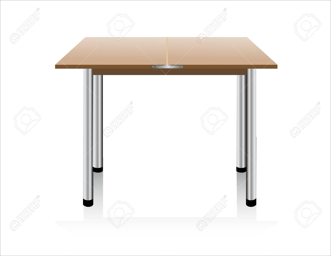 table on white background. Stock Vector - 15993647