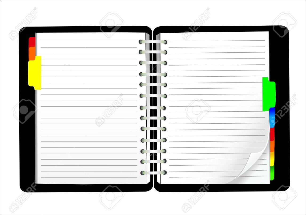 vector blank lined notebook - 16392235