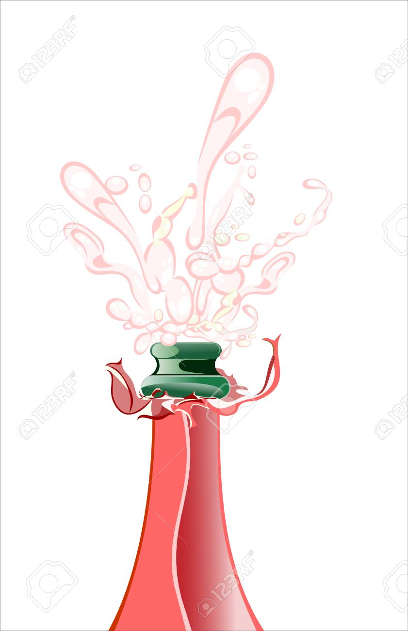 Close-up of champagne explosion Stock Vector - 17207295