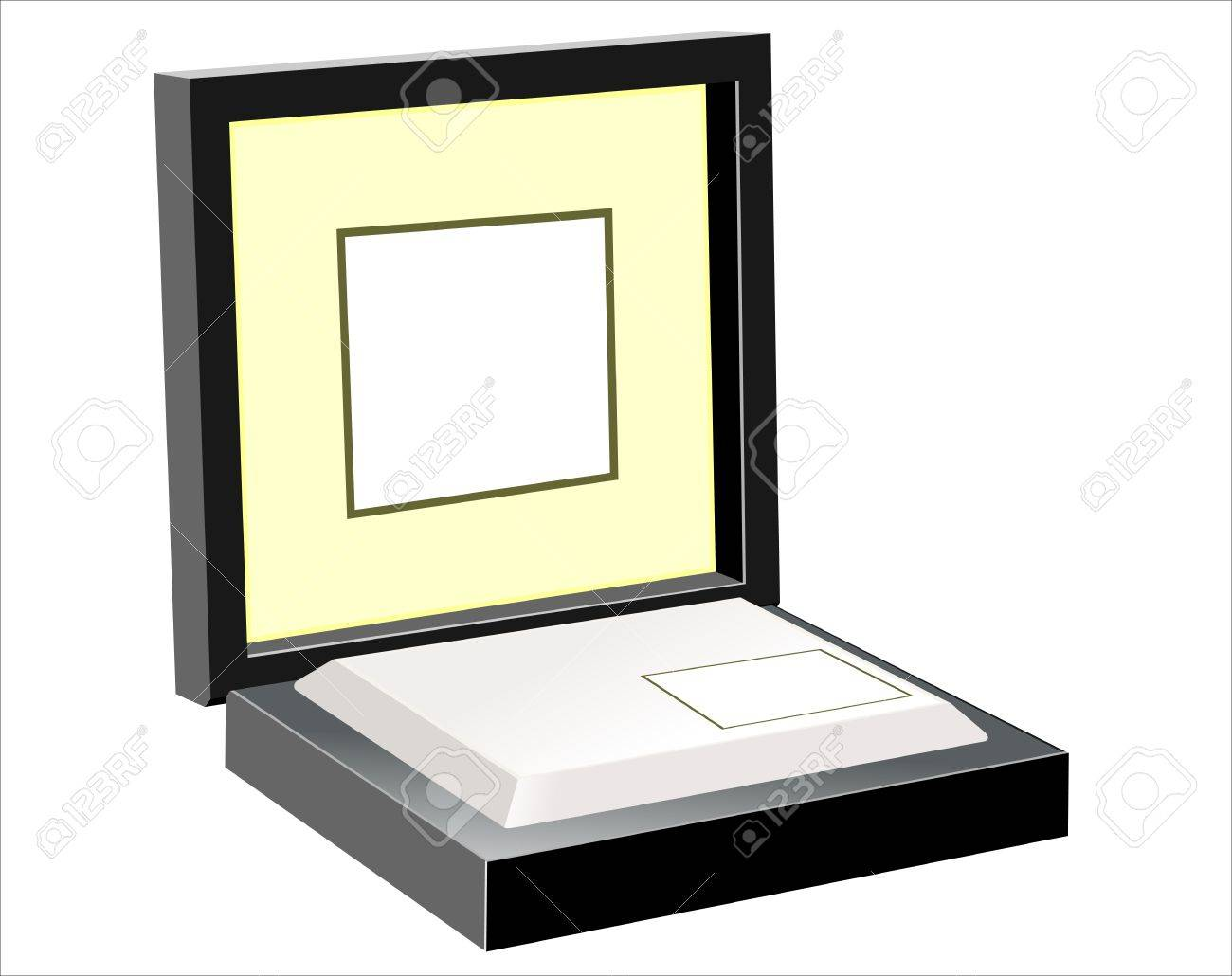 Open black gift box isolated on white Stock Vector - 17483917