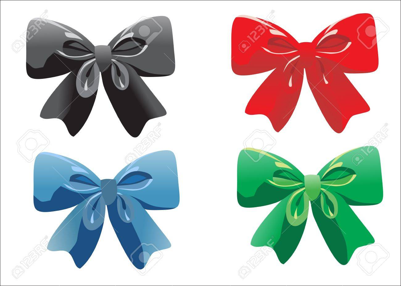 ribbon bow isolated on white Stock Vector - 17754504