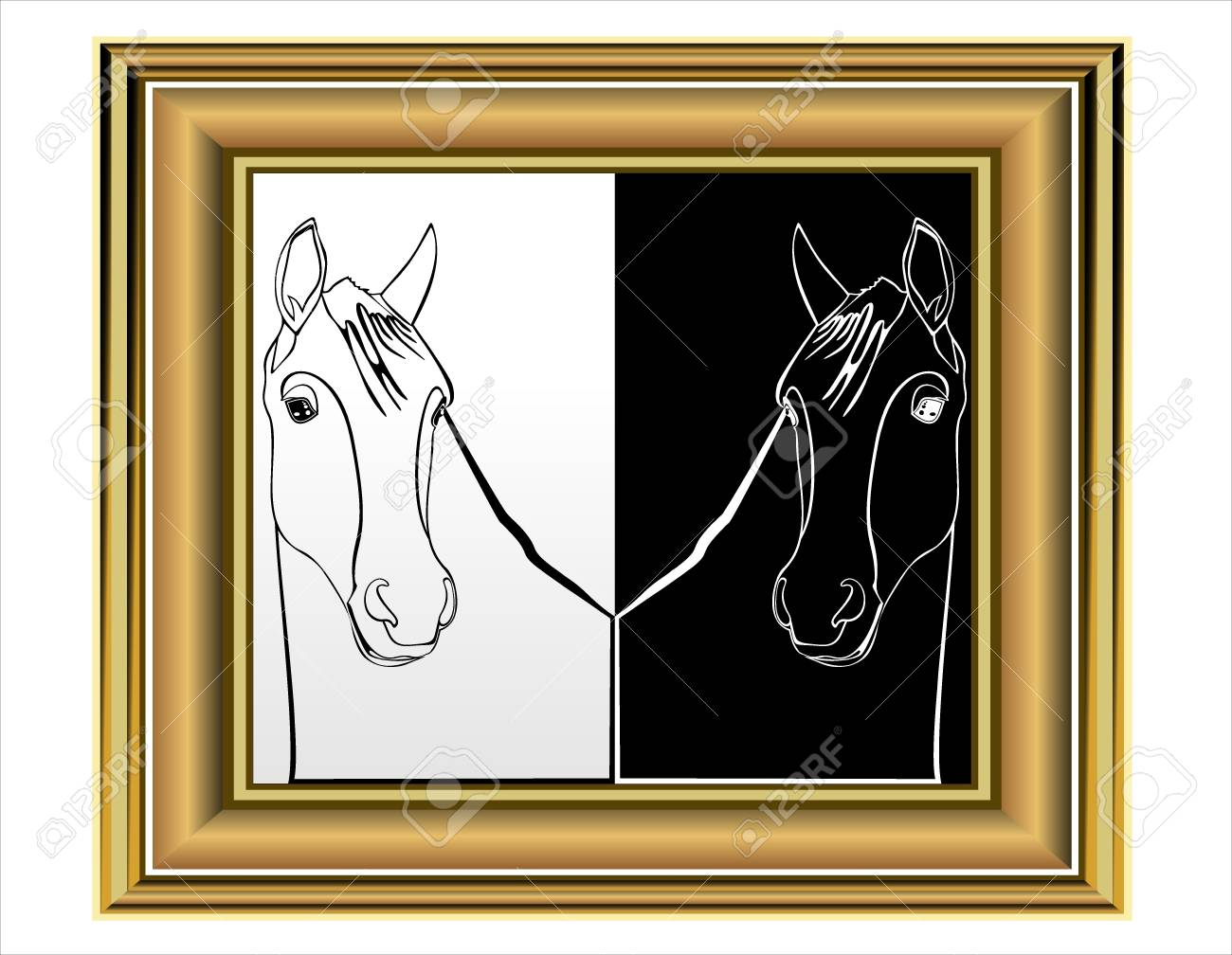 Art picture horse Stock Vector - 17752203