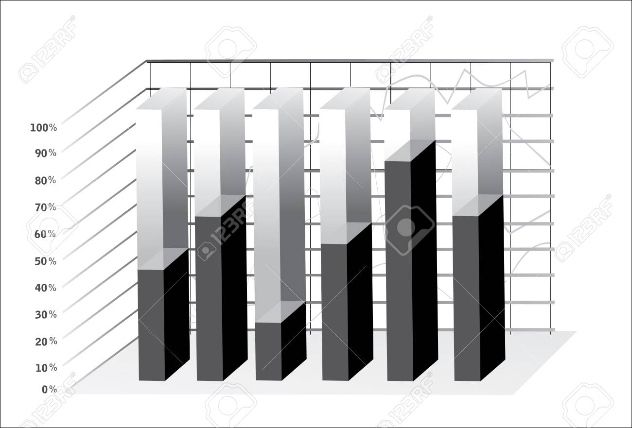 3D Business charts Stock Vector - 18439152