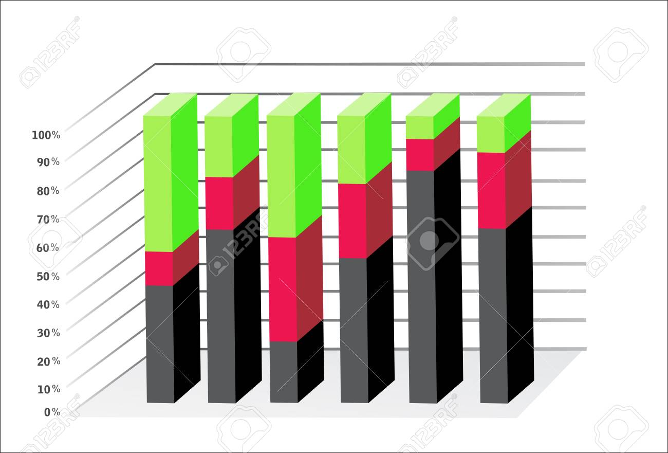 3D Business charts Stock Vector - 18439148