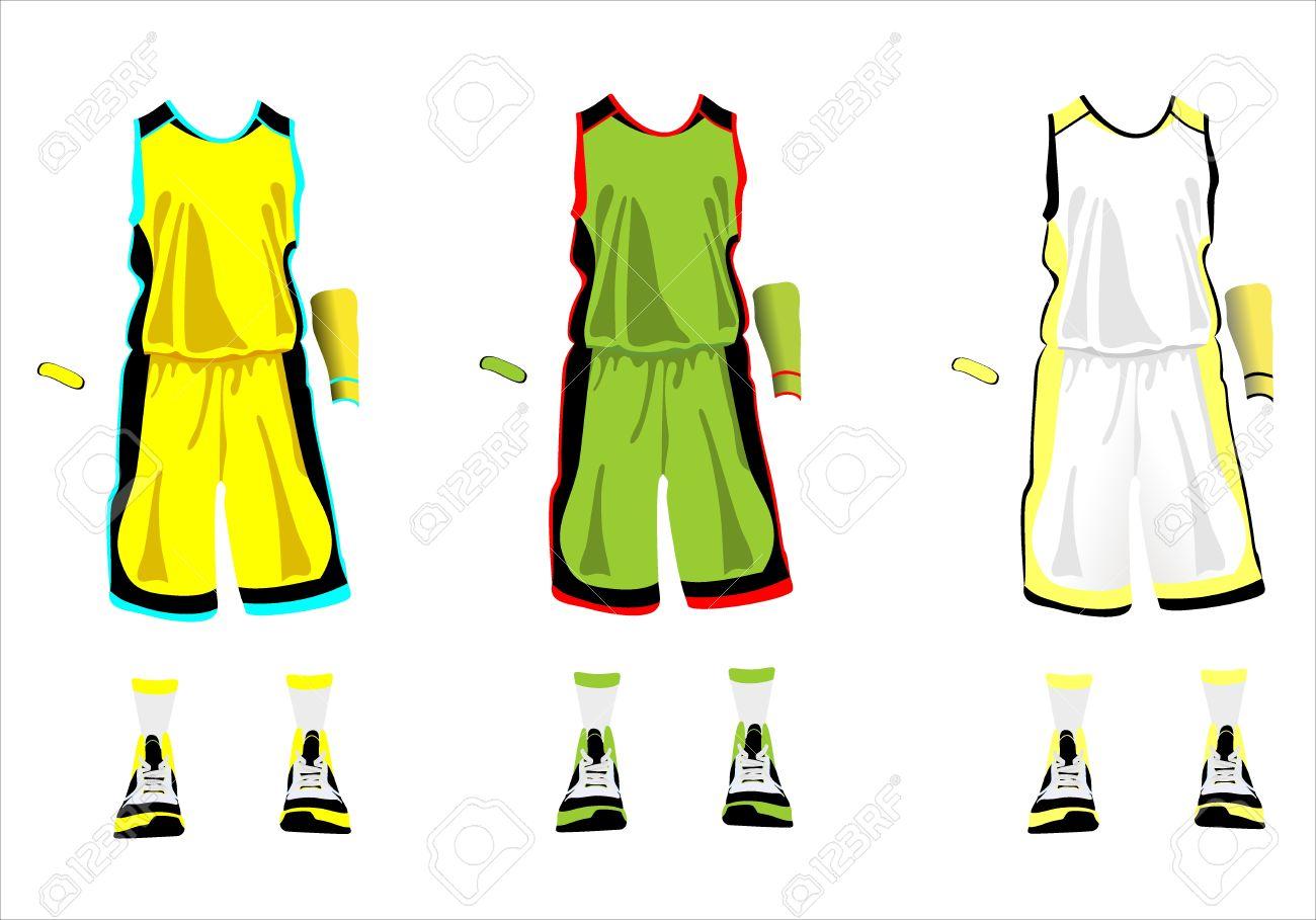 sports series realistic team basketball uniform royalty free