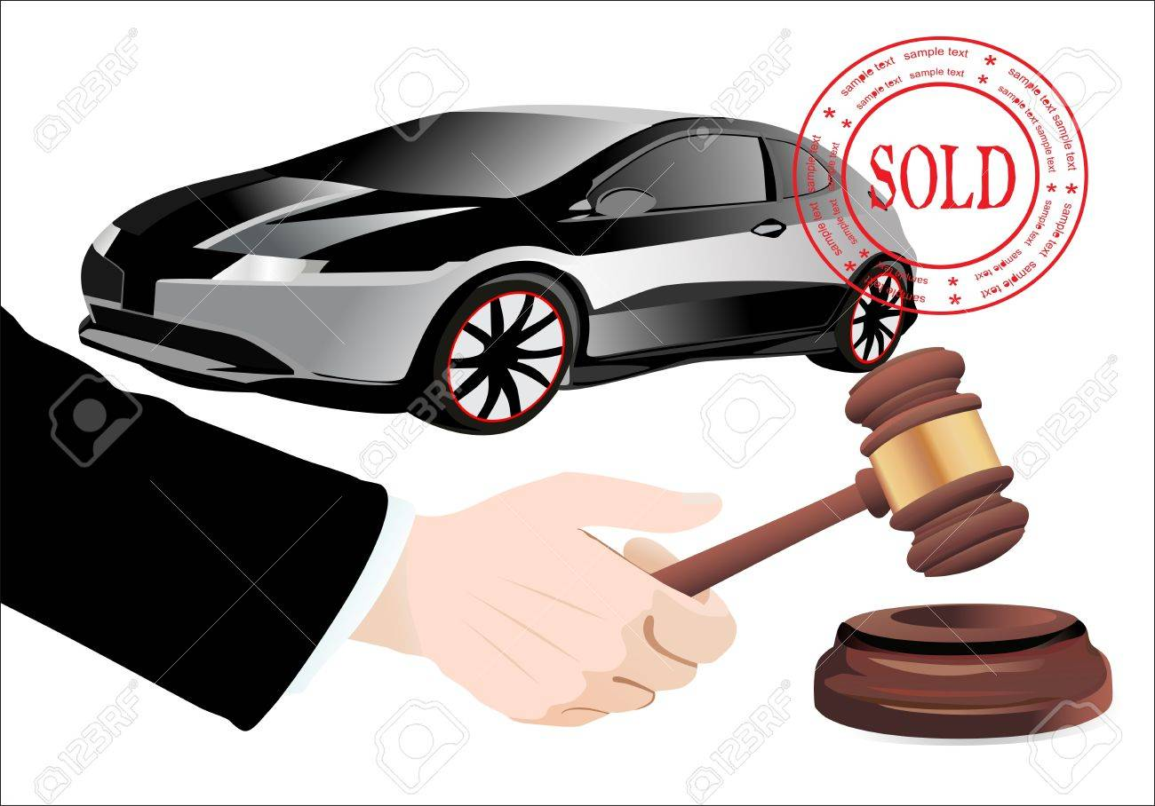 Sold the car Stock Vector - 19600481