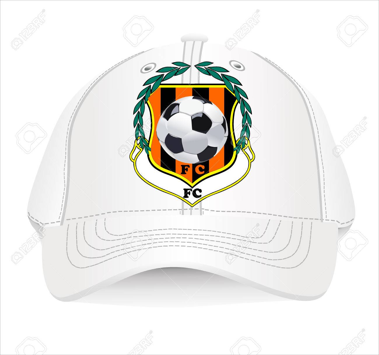 baseball cap design template royalty free cliparts vectors and